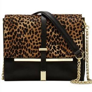 Vince Camuto calf hair chained shoulder bag